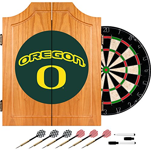 Trademark Gameroom University of Oregon Wood Dart Cabinet Set by Trademark Gameroom