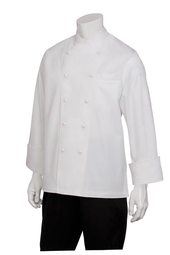 Chef Works Womens Milan Executive Chef Coat, White With White Piping, 40 by Chef Works