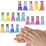 Townley Girl Disney Princesses Super Sparkly Peel-Off Nail Polish Deluxe Present Set for Girls, 18...