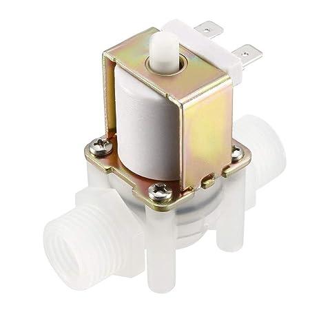 Sourcingmap V/álvula solenoide de agua 12 V CC, no normalmente abierta