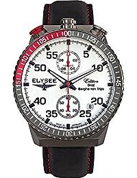ELYSEE Men's 80517W Graf Berghe von Trips Analog Display Quartz Black Watch