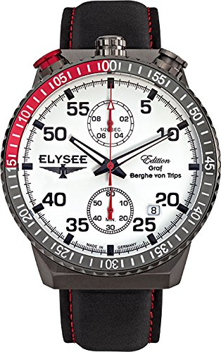 ELYSEE Men's 80517W Graf Berghe von Trips Analog Display Quartz Black Watch