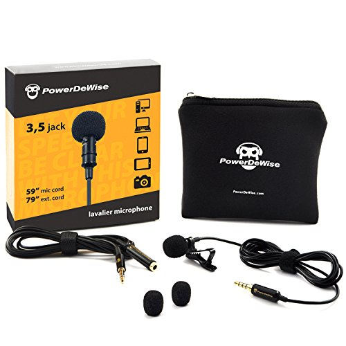 Professional Grade Lavalier Lapel Microphone ­ Omnidirectional Mic with Easy ...