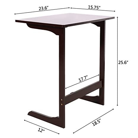 competitive price a05b7 dc652 Amazon.com: End Table,L-Shaped Bamboo Sofa Side Table Modern ...
