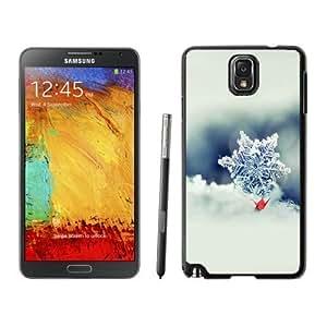 NEW Unique Custom Designed Samsung Galaxy Note 3 N900A N900V N900P N900T Phone Case With Snowflake Macro Photo Closeup_Black Phone Case
