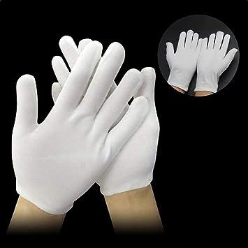 Marke New12 Paar Weiß Baumwolle Handschuhe Mit
