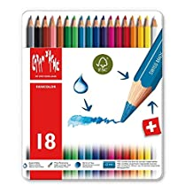 Caran d'Ache Fancolor Color Pencils, 18 Colors