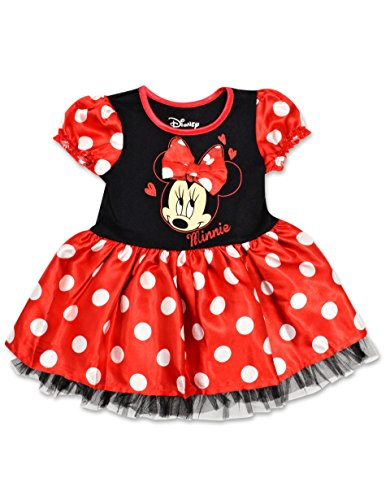 Disney Minnie Mouse Girls Toddlers Polka Dot Dress (2T) (Tutu Minnie Mouse)