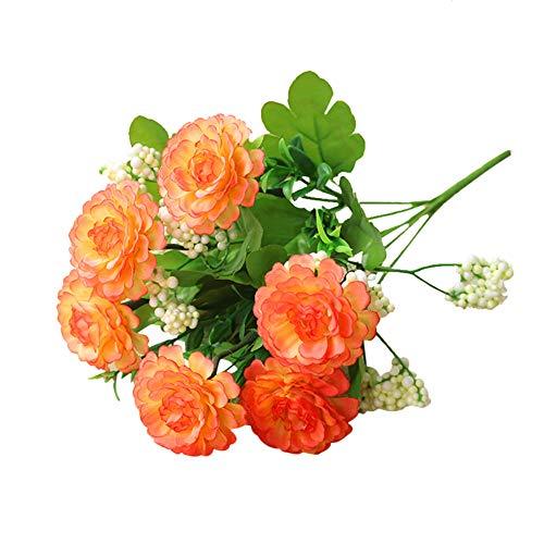 JJeendyuna Artificial Silk Rose Flower Bouquet Real Touch Long Stem for Wedding Party Floral Decor