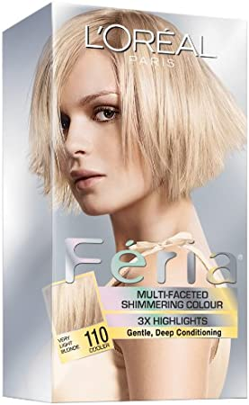 LOreal Feria Multi-Faceted Shimmering Colour, Level 3 Permanent, Very Light Blonde 110 by LOreal Paris Hair Color