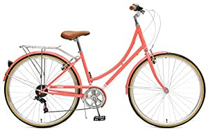 Critical Cycles Beaumont-7 Seven Speed Lady's Urban City Commuter Bike, Coral, 38cm (Small/Medium)
