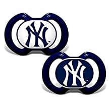 New York Yankees Pacifier - 2 Pack by Baby Fanatic