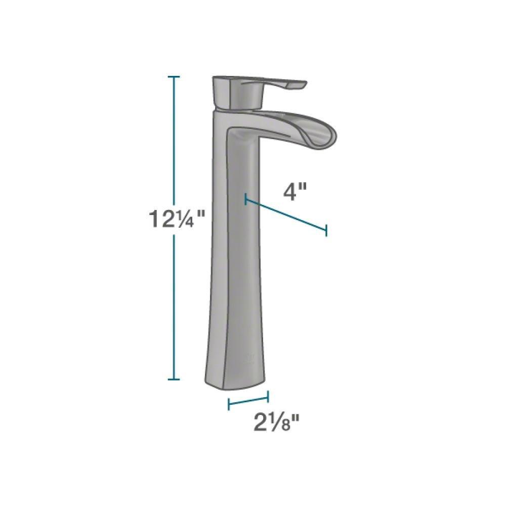 609 Brushed Nickel Bathroom 731 Vessel Faucet Ensemble Bundle - 4 Items: Vessel Sink, Vessel Faucet, Pop-Up Drain, and Sink Ring MR Direct 609-731-BN