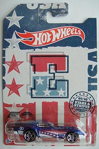 Hot Wheels STARS & STRIPES 50THE EDITION, BLUE '69 CHEVROLET CORVETTE 7/10 (Anniversary Stripes)