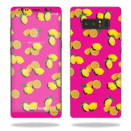 MightySkins Skin Compatible with Samsung Galaxy Note 8 - Make Lemonade   Protective, Durable, and Unique Vinyl Decal wrap Cover   Easy to Apply, Remove, and Change Styles   Made in The USA