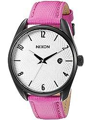 Nixon Womens A4732049 Bullet Leather Analog Display Japanese Quartz Pink Watch