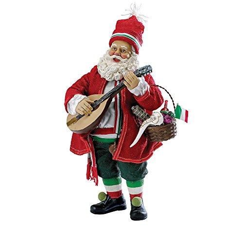 Kurt Adler Fabriche Italian Musical Santa, 10-Inch