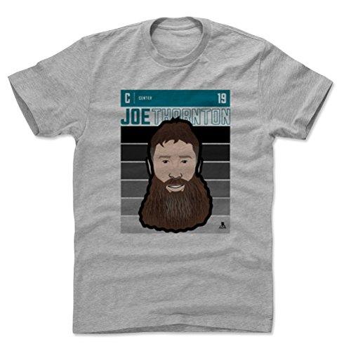 500 LEVEL Joe Thornton Cotton Shirt (XX-Large, Heather Gray) - San Jose Sharks Men's Apparel - Joe Thornton Fade ()