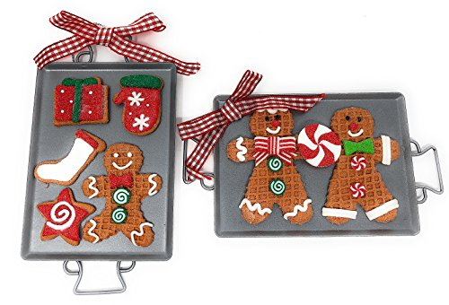 Large Christmas Gingerbread Man Cookie Sheet Ornament, 6 Inch, Set of 2