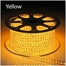 1-100m 5050 SMD 60 LED Strip Light 110v High Voltage Flexible IP67 Waterproof Yellow 15m = 50 ft