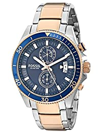Fossil Men's CH2954 Wakefield Chronograph Stainless Steel Watch-Two-ToneRose and Silver