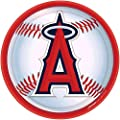 """Los Angeles Angels Major League Baseball Collection"" 9"" Round, Party Plates"