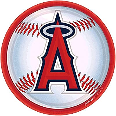 """""""Los Angeles Angels Major League Baseball Collection"""" 9"""" Round, Party Plates"""
