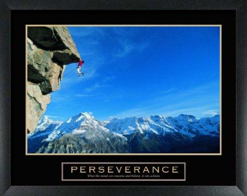 Rock Climber Framed Motivational Poster [Kitchen]