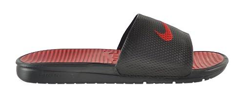 9faae96a3 Nike Benassi Solarsoft Men s Slides Black Sport Red-Black-Spirit Red 431884-
