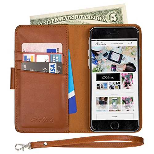 The ONLY iPhone 6S Wallet Folio Case with FULL Width Bill Pocket. Luxury Nappa Soft Genuine Leather