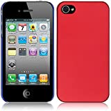 WOW Imagine(TM) Rubberised Matte Hard Case Back Cover for Apple iPhone 4 / 4s (Maroon Wine Red)