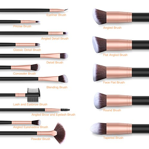 BESTOPE-Makeup-Brushes-16-PCs-Makeup-Brush-Set-Premium-Synthetic-Foundation-Brush-Blending-Face-Powder-Blush-Concealers-Eye-Shadows-Make-Up-Brushes-Kit-Rose-Golden