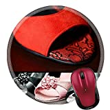 Liili Round Mouse Pad Natural Rubber Mousepad Dance Shoes IMAGE ID 15178155