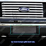 f150 back bumper - APS F66789A Polished Aluminum Billet Grille Bolt Over for select Ford F-150 Models