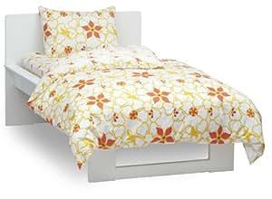 Argington Organic Twin Quilt, Heart And Flowers Print