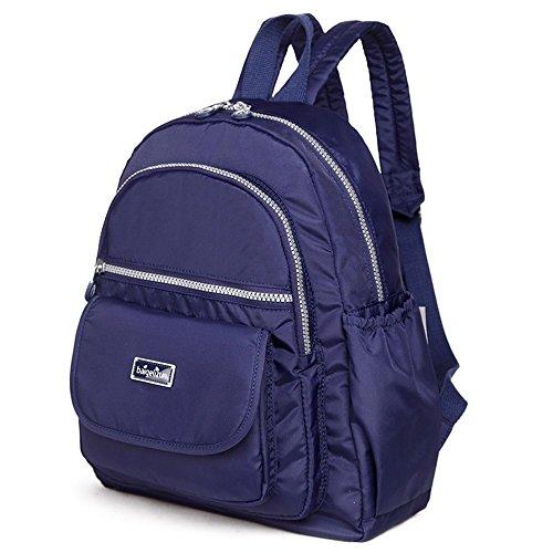 Bolso de la momia del hombro, bolso multi-funcional de la madre de la manera, bebé impermeable portable fuera del bolso ( Color : Morado oscuro ) Azul zafiro