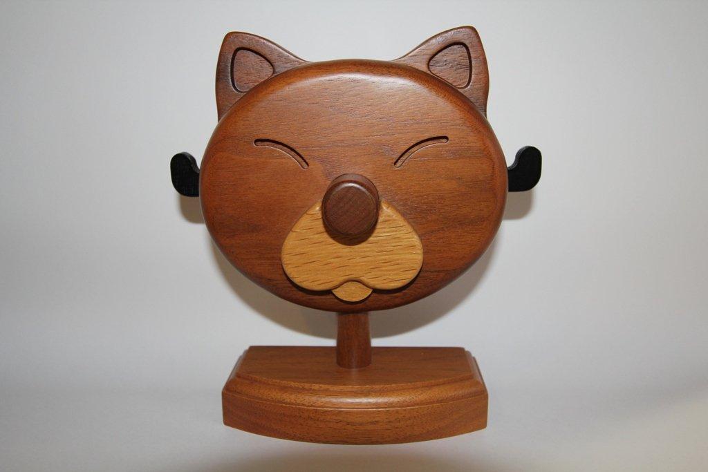 アニマル型メガネスタンド B0045WJKEG ネコ型メガネスタンド玉吉/gla-cat-tama ネコ型メガネスタンド玉吉/glacattama