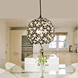 Wei-d Modern Simple Fashion Single Head Aluminum Material Plum Blossom Style Restaurant Entrance Hallway Corridor Lighting Chandelier , as picture