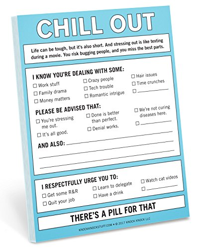 Knock Knock Chill Out Nifty Note, Checklist Memo Pad, 4 x 5.25-inches