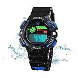 Kids Watches Outdoor Sports Children Watch Stopwatch Quartz Watch Boy Girls LED Wristwatch Green
