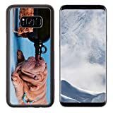 Liili Premium Samsung Galaxy S8 Plus Aluminum Backplate Bumper Snap Case Puppy of Sharpei is Drunk after a Bottle of Wine Photo 7413833 Simple Snap Carrying