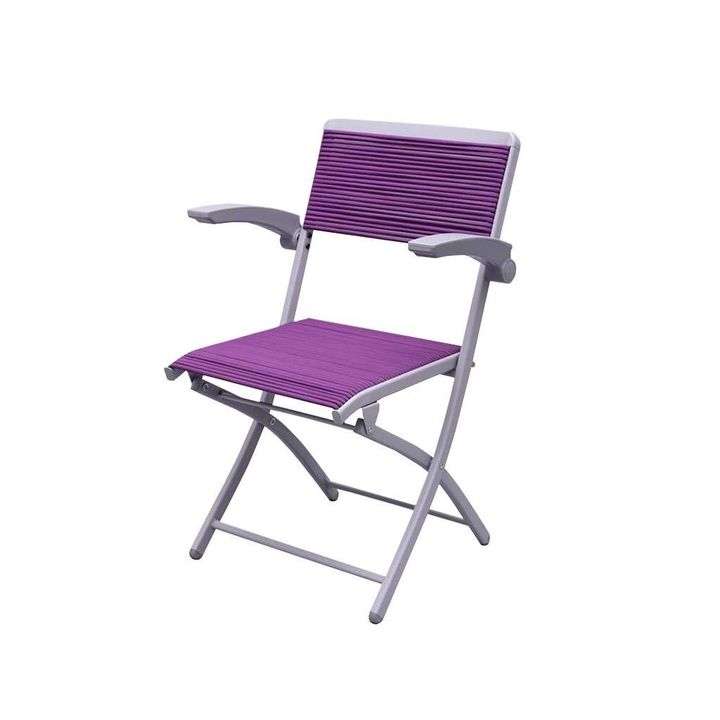 椅子,QZ HOME 折り畳み式の椅子サンラウンジャーコンピュータチェア会議室チェスシンプルなオフィス学生 (色 : Purple) B07JVJCZDF Purple