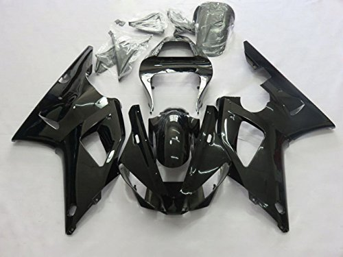 ZXMOTO Motorcycle Bodywork Fairing Kit For YAMAHA YZF R1 R1000 2000-2001 Painted Glossy Black