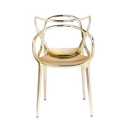 Kartell Masters Metallic Stuhl, gold: Amazon.de: Küche & Haushalt