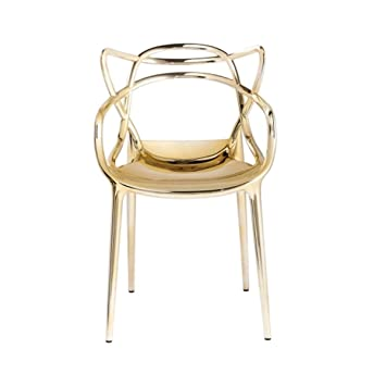 Superior Kartell Masters Chair By Philippe Starck With Eugeni Quitllet, Pack Of 2,  Metallic Gold