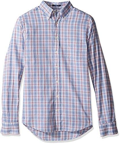 GANT Men's Classic Oxford Plaid Shirt, Lavender Blue, XX-Large ()