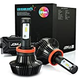JDM ASTAR 8th Generation 7000 Lumens Extremely Bright ZES Chips H11 H8 H9 LED Headlight Bulbs Conversion Kit, Xenon White