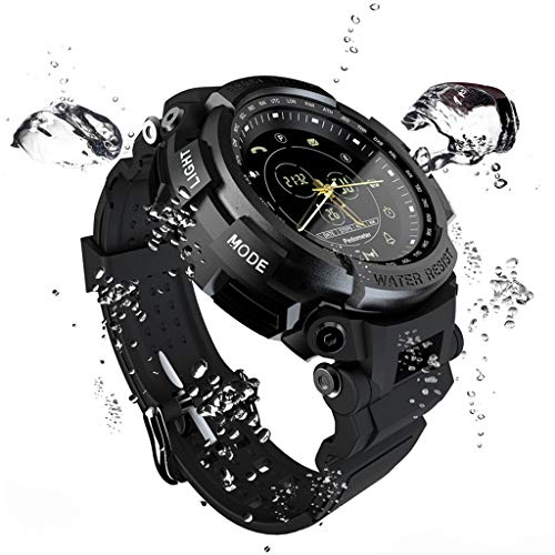 Meidexian888 LOKMAT Smart Watch, 5ATM Waterproof Bluetooth Call Reminder Remote Camera Swimming Fitness Sports Watch