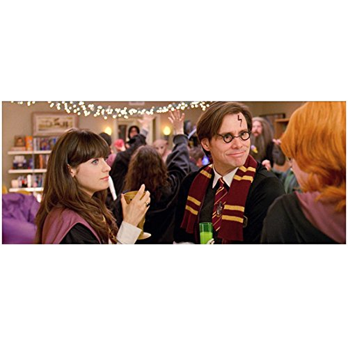 Yes Man 8 inch x10 inch Photo Jim Carrey & Zooey Deschanel at Costume Party kn -