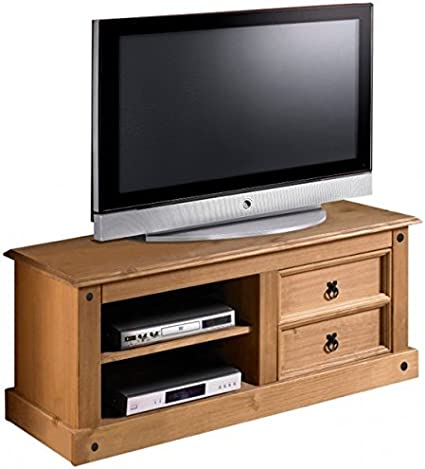 tv-muebles de madera maciza de pino rústico Merida mueble para televisor: Amazon.es: Hogar